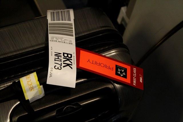 タイ旅行のスーツケース