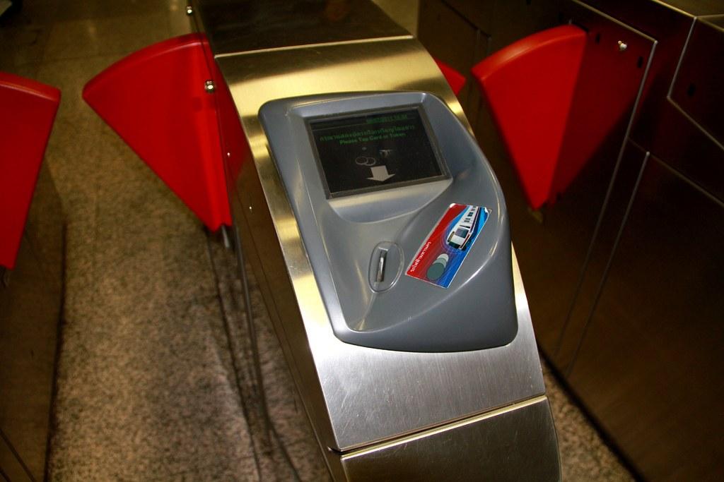 タイ旅行でバンコクのMRT(地下鉄)の改札