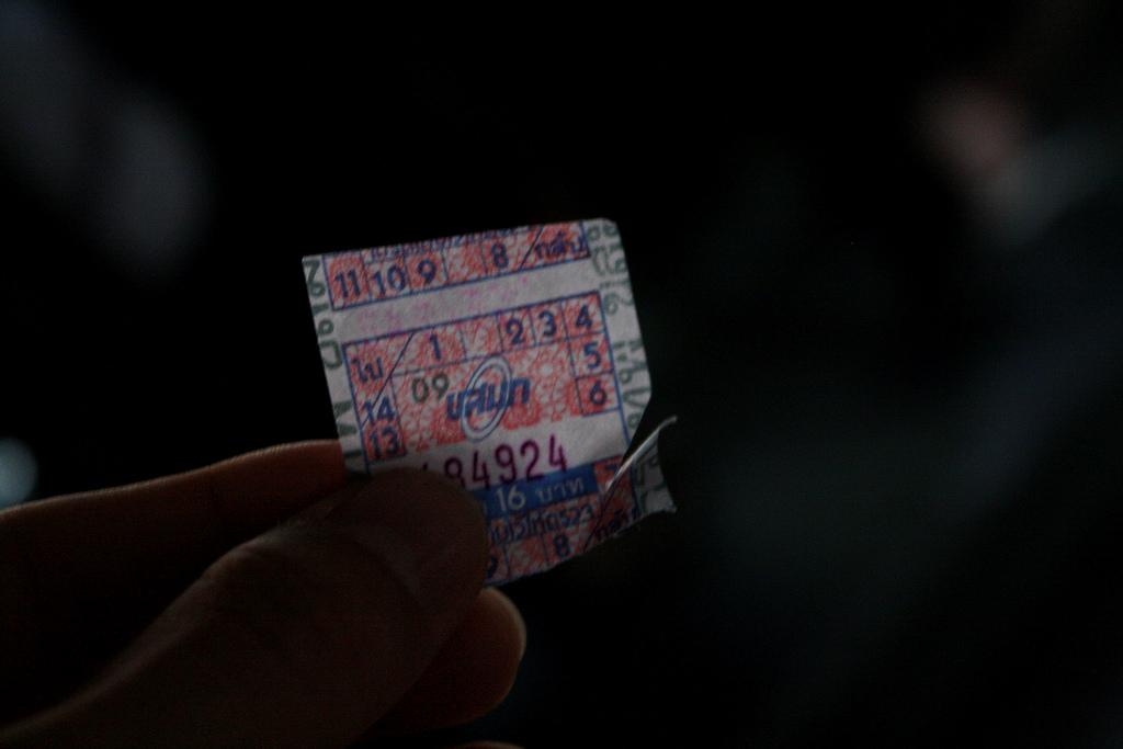 タイ旅行で乗るタイのバスのチケット