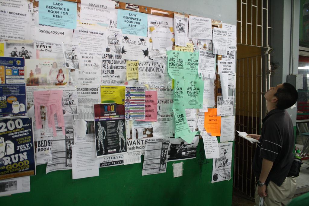 マニラのフィリピン大学の掲示板