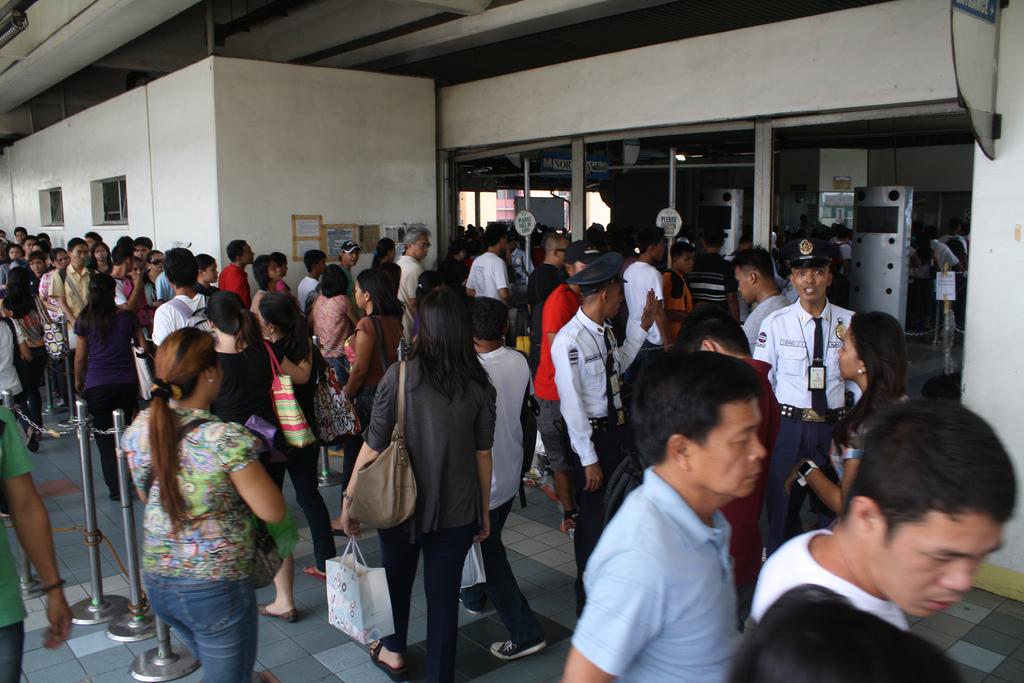 フィリピンのマニラの電車のチケット売り場